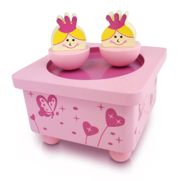 Photo White Background | Personalised Princess Pink Wooden Music Box