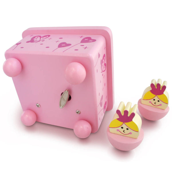 Bottom | Personalised Princess Pink Wooden Music Box