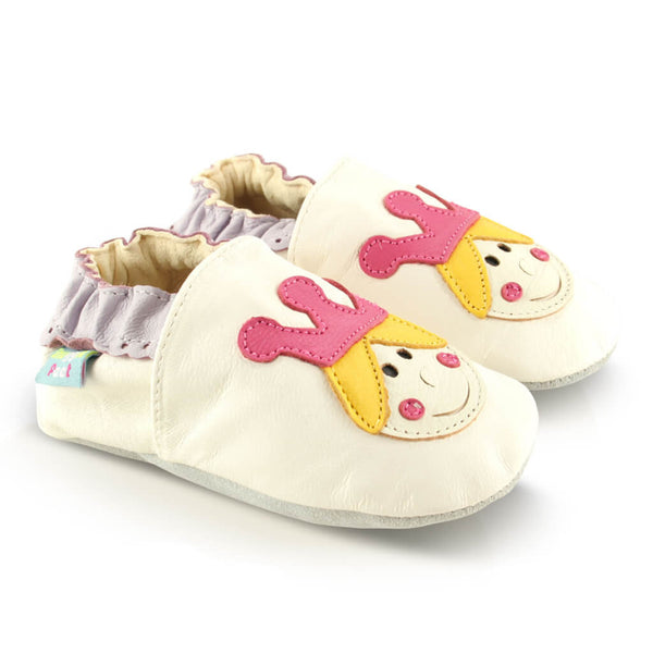 Princess Crown Soft Leather Baby Shoes | Side View