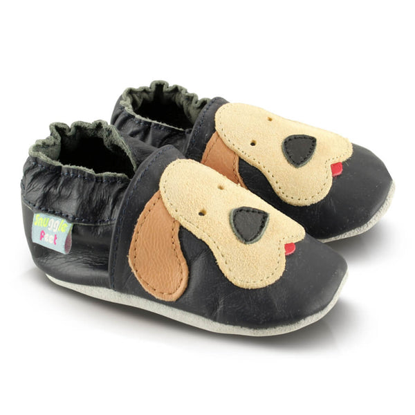 Playful Puppy Soft Leather Baby Shoes | Side View