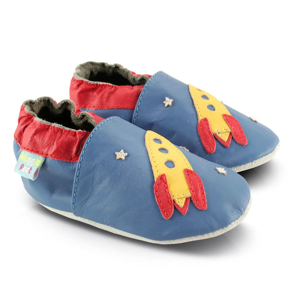 Rocket Soft Leather Baby Shoes | Side View