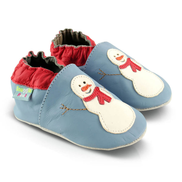 Snowman Soft Leather Baby Shoes | Side View