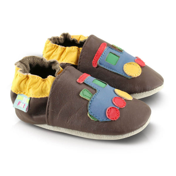 Train Soft Leather Baby Shoes | Side View