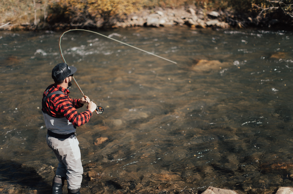 Fly fishing summer time