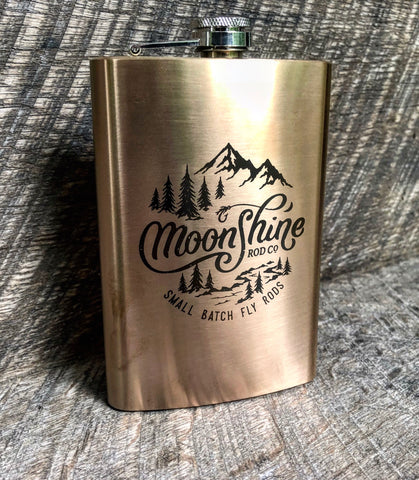 "Limited Edition Moonshine ""Small Batch"" Copper Flask"