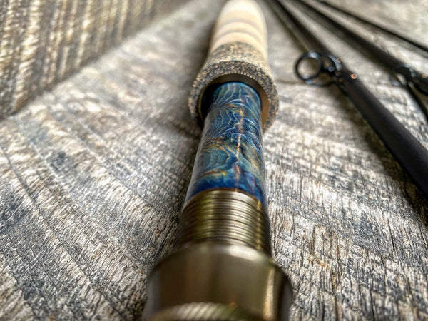 Midnight Special - 5wt  - 9' - #2082 Blue Flame Burl 3D Grain Copper Hardware