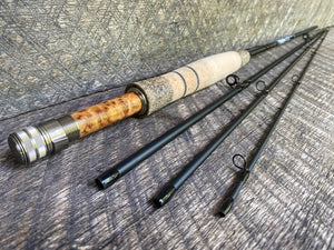 Midnight Special - 3wt - 7'6 - #2267 Birdseye Burl and Brass Blackout