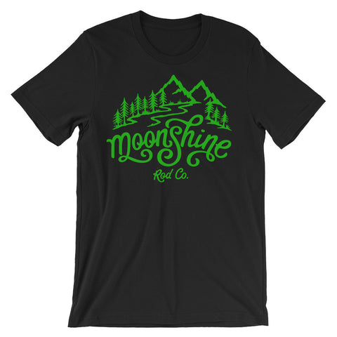 Moonshine Mountain Paradise Green T-shirt