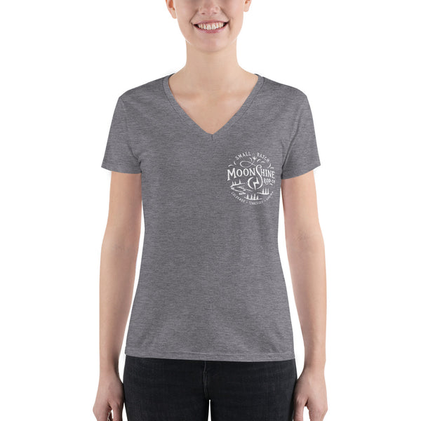 Women's Fashion Moonshine Deep V-neck Tee