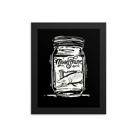 Trout in a Jar Framed poster