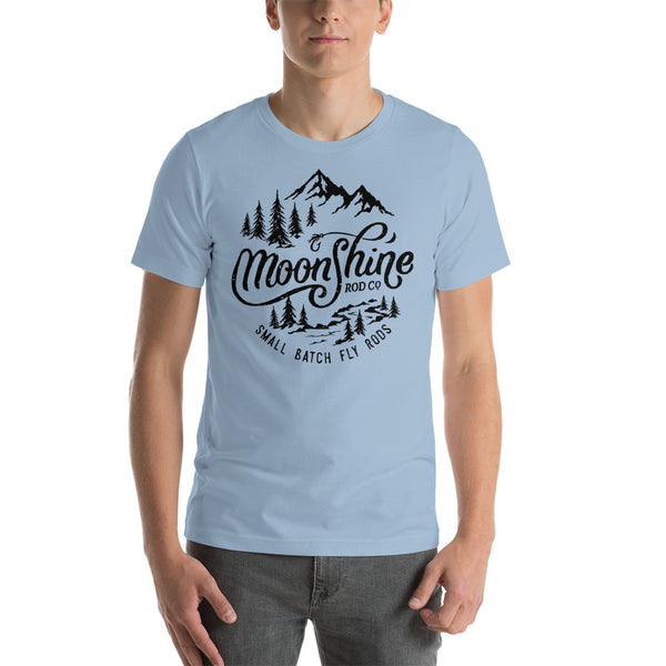 Moonshine Mountains Light Colors Short-Sleeve Unisex T-Shirt