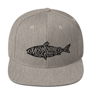Moonshine Fish Wool Blend Snapback
