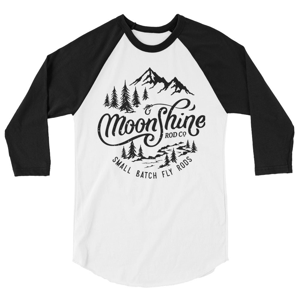 Mountains 3/4 sleeve raglan shirt