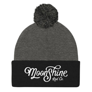 Moonshine Old School Pom Pom Knit Cap
