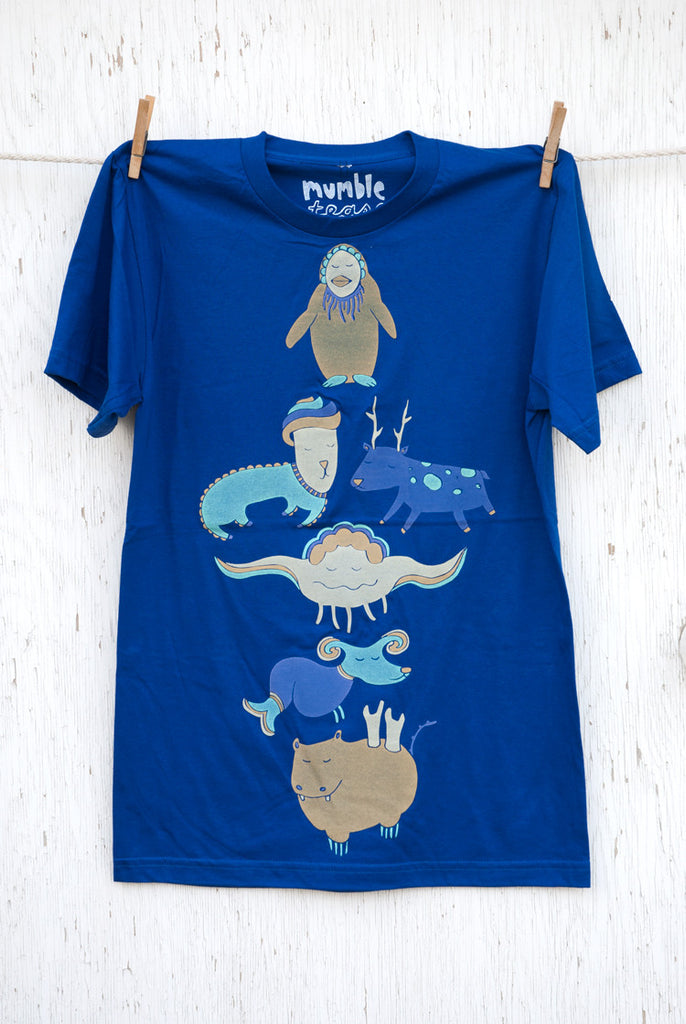 Animal Pile - Lapis Blue Unisex T-shirt