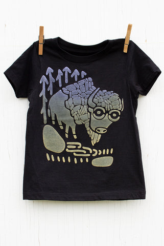 Bison - Black Kid's T-shirt