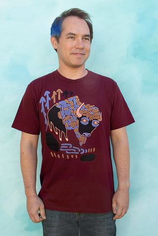 Bison - Burgundy Men's T-shirt