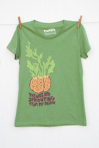 Sprouting Brain - Kiwi Women's T-shirt