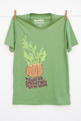 Sprouting Brain - Kiwi Unisex T-shirt