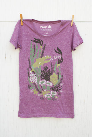 Chomp! - Purple Women's T-shirt