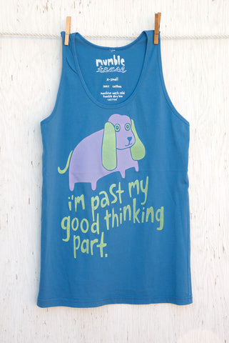 Good Thinking Part - Blue Unisex Tank