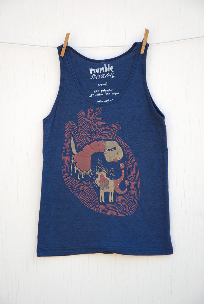 Creatures of the Heart - Indigo Unisex Tank