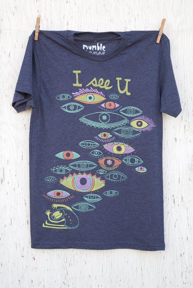 I See You - Purple Unisex T-shirt