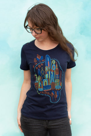 Imagination Station - Navy Women's T-shirt