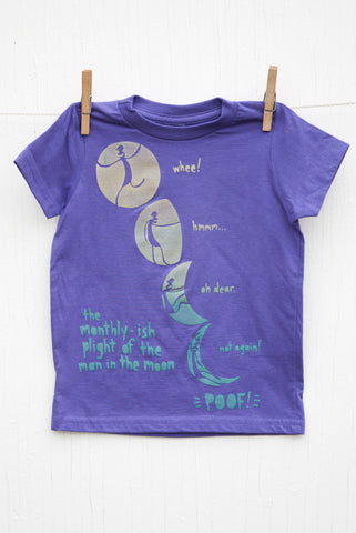 Man in the Moon - Purple Kid's T-shirt