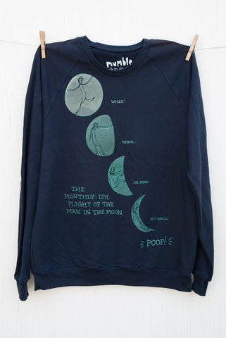 Man in the Moon - Navy Unisex Pullover