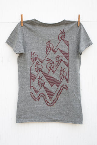 Mountain Goat Mountain Goat - Vintage Grey Women's T-shirt