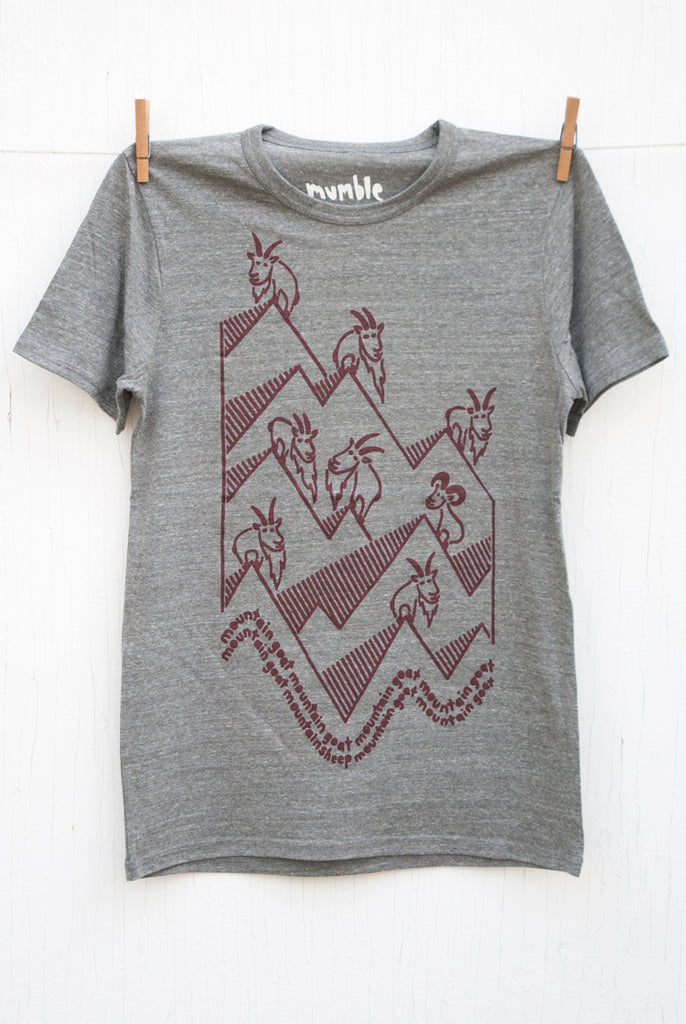 Mountain Goat Mountain Goat - Grey Unisex T-shirt