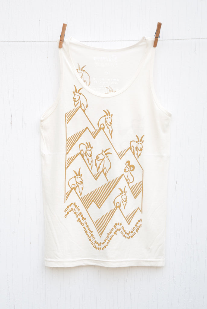 Mountain Goat Mountain Goat - Cream Unisex Tank
