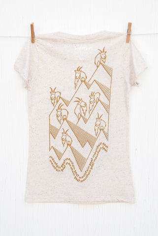 Mountain Goat Mountain Goat - Oatmeal with Tan Women's T-shirt