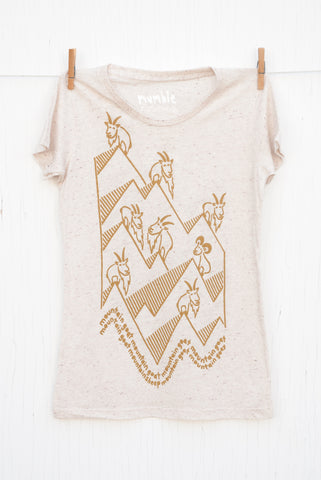 Mountain Goat Mountain Goat - Oatmeal Women's T-shirt