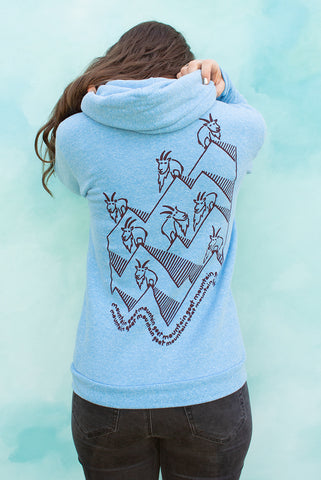 Mountain Goat Mountain Goat - Pool Blue Unisex Zip-up Hoodie