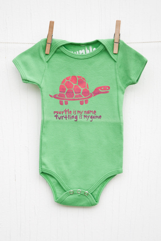 Murtle the Turtle - Grass Infant Onesie
