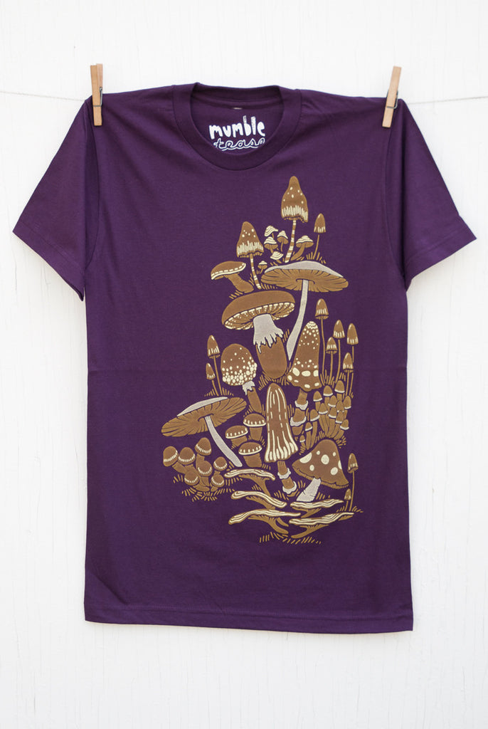 Mushrooms - Eggplant Unisex T-shirt