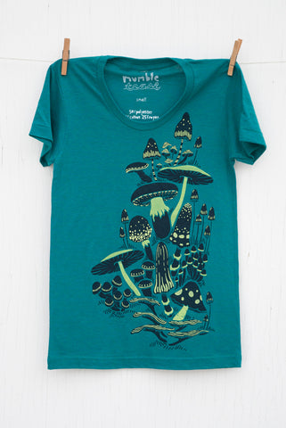 Mushrooms - Evergreen Women's T-shirt