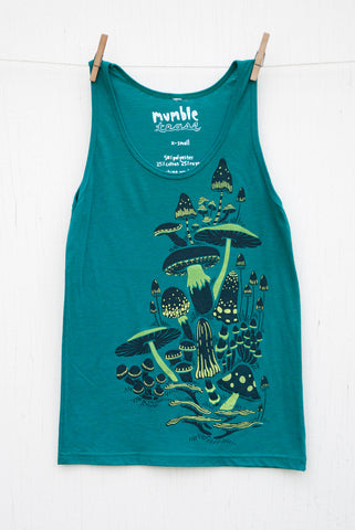 Mushrooms - Evergreen Unisex Tank