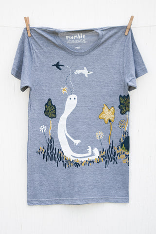 Bird Head Ned - Grey Unisex T-shirt