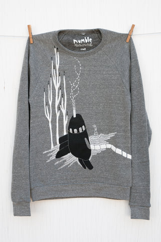 Strange Neighbours - Grey Unisex Fleece Pullover