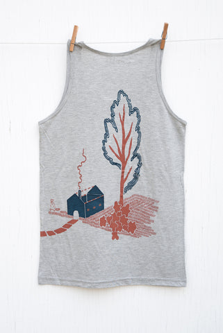 Strange Neighbours - Grey Unisex Tank