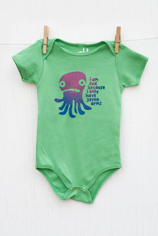 Sad Octopus - Grass Infant Onesie