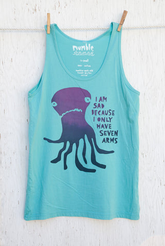 Sad Octopus - High Dive Unisex Tank