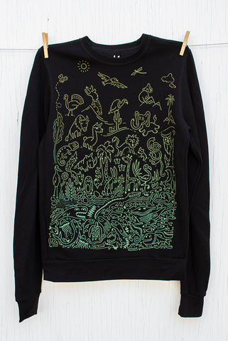 Sea to Sky Ombre - Black Unisex Pullover