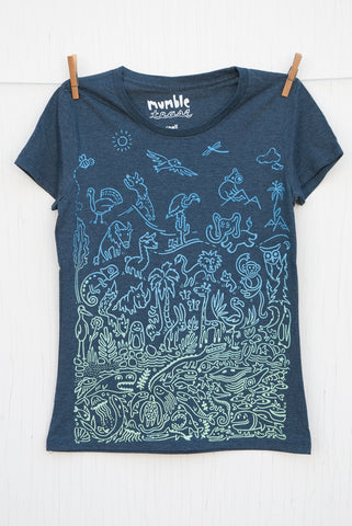 Sea to Sky Ombre - Dusk Blue Women's T-shirt