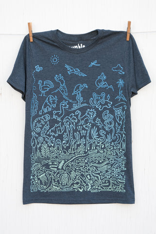 Sea to Sky Ombré - Indigo Unisex T-shirt