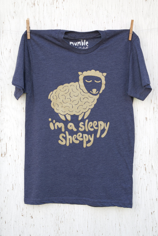 Sleepy Sheepy - Purple Unisex T-shirt