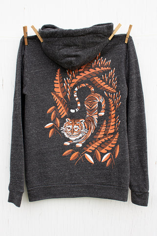 Monkey Unicorn - 147 Medium Black Unisex Fleece Pullover